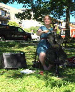 Clara Shandler Sidewalk Cellist